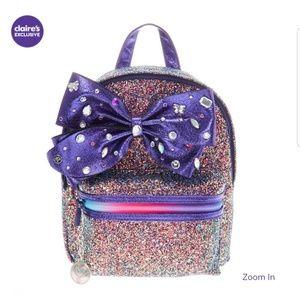 NWT Jojo SiwaCake Glitter backpack in Purple